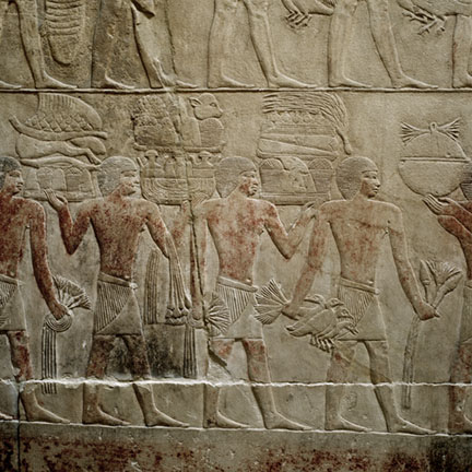 OLD KINGDOM RELIEF AT SAKARRA, EGYPT