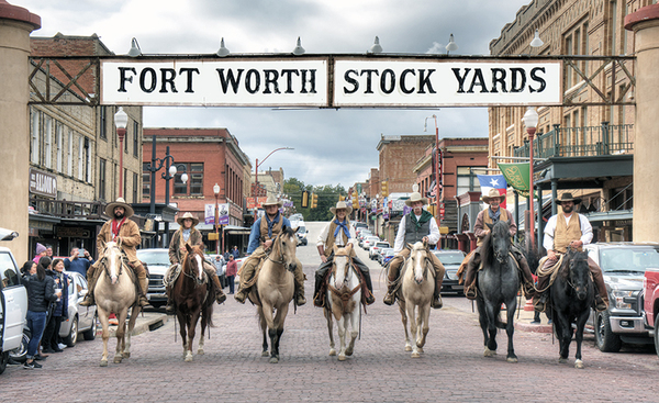 Drovers at the Fort Worth Stockyards