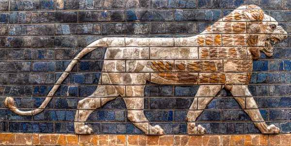 ISHTAR GATE FIGURE, ARCHAEOLOGY MUSEUM, ISTANBUL