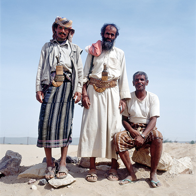 Workers at Ma'rib Bilqis Archaeological Site, Yemen