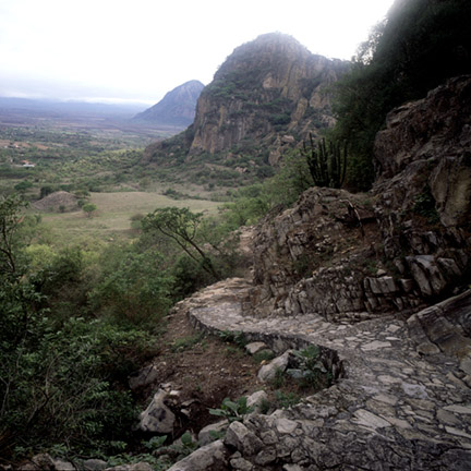 ANCIENT TRAIL NEAR MALINALCO, MEXICO