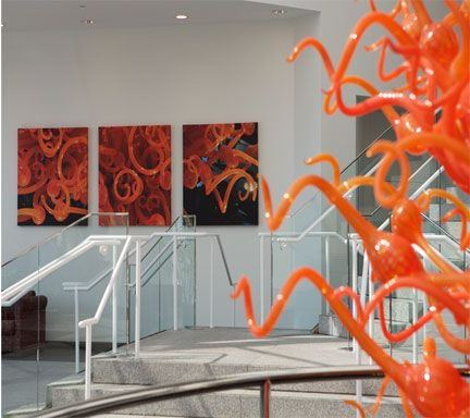 CHIHULY PHOTOS LOBBY UTSW MEDICAL SCHOOL