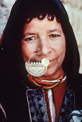 Desert Oasis Woman with Nose Ring, Egypt