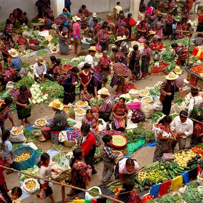 Vegetable Market at Chichicastenango, Guatemala