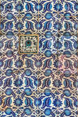 TILE WALL AT RUSTEM PASHA MOSQUE, ISTANBUL